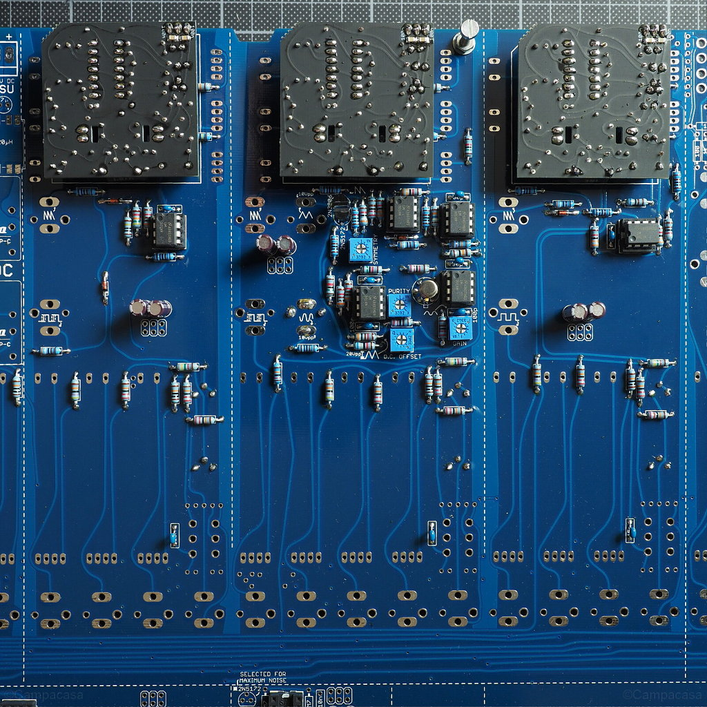 Main Board, VCO 1, 2 and 3 with Small VCO Boards Mounted
