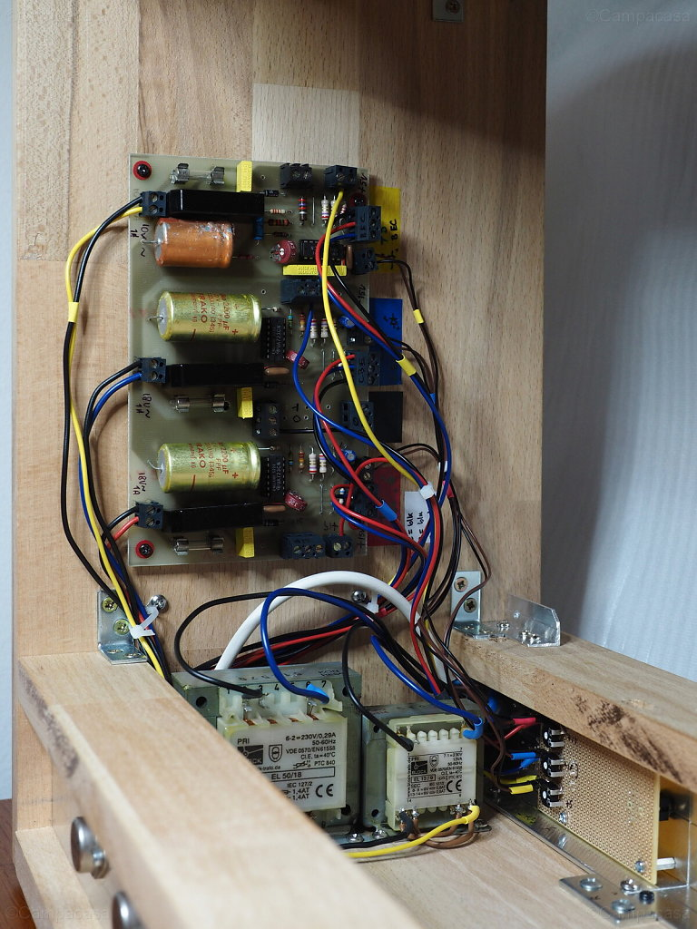 Elektor Formant Power Supply, Transformers and Backside of Front Panel