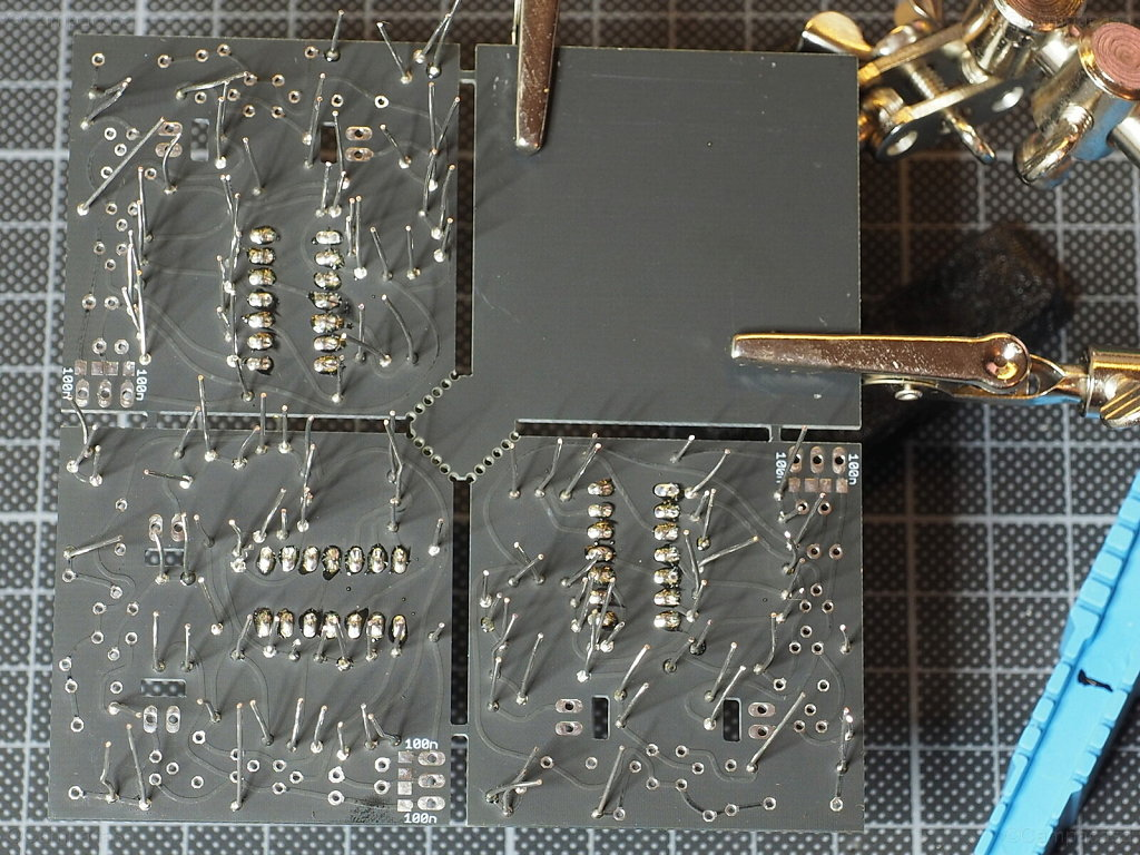 Resistors on 3 VCO Boards