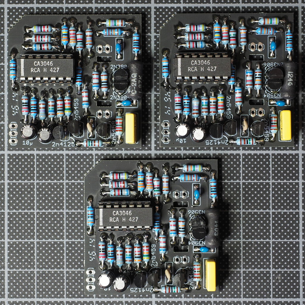 VCO Boards Separated