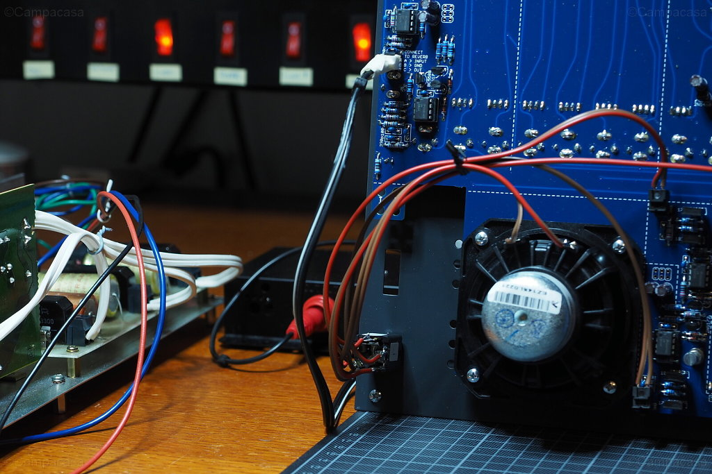 Power Supply, Spring Reverb and Speaker Connections