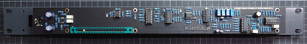 DDRM Expander hardware and main boards mounted to front panel