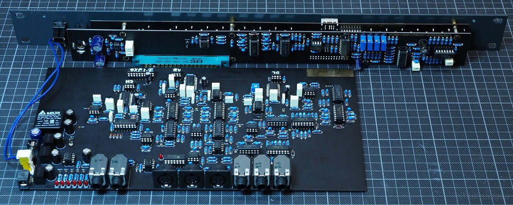 DDRM Expander boards done and connected, back side