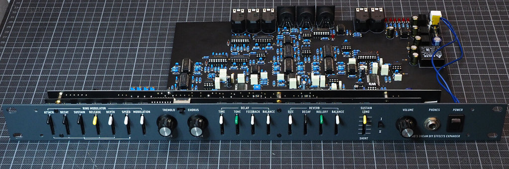 DDRM Expander boards done and connected, front side